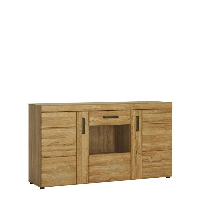 3 door glazed sideboard